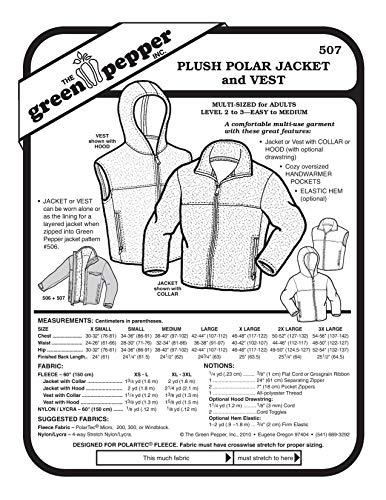 Schnittmuster für Polarjacke und Weste (507GP)