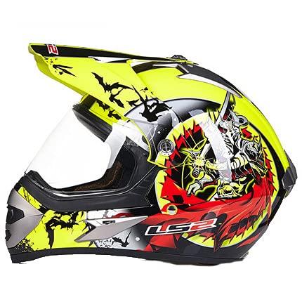 IDWX Casco De Doble Lente Abs Cascos De Motocross Full Face Dot L/XL/XXL Cascos Moto Capacetes Fit Hombre Y Mujer, Norma De Seguridad Ece 22.05