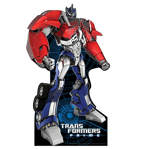6 ft. 6 in. Optimus Prime Transformers Standee Standup Photo Booth Prop Background Backdrop Party Decoration Decor Scene Setter Cardboard Cutout