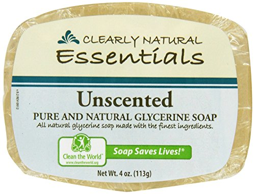 Clearly Natural: Glycerine Soap, Unscented 4...
