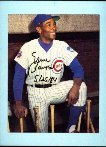 "Ernie Banks autographed Chicago Cubs 8"" x 10"" color photo"
