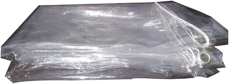 BLRYP Tarpaulin Thick Transparent Tarpaulin Waterproof Sunscreen Awning Windshield Balcony Rainproof Cloth PVC Soft Rubber Multifunctional Rain Cloth Film Rain Tarpaulin,Outdoor (Size   1.1m×1.1m)