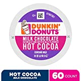 Dunkin' Donuts Milk Chocolate Hot Cocoa, 60 K Cups for Keurig Coffee Makers