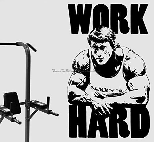 Blrpbc Pegatinas de Pared Adhesivos Pared Gimnasio Entrenador de Fitness Deportes músculo Vinilo Gimnasio Ventiladores de Fitness decoración de la habitación calcomanías Silueta Regalos 86x140cm
