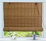 Bamboo Roll Up Window Blind Sun Shade W42' x H72'