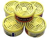 Baren Zitronen Aroma 5 Stück Nachfüllpackungen Zitrone für Luftreiniger B-757, B-H04, B-668, Gelb