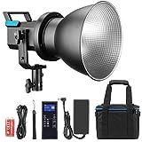 UIGJIOG 80 W X60 RGB Video Light, 2800 K-10000 K, 2.4 G Control Remoto Inalámbrico, Admite El Control De La Aplicación Bluetooth del Teléfono Móvil, La Tarjeta De Instalación De Bowence