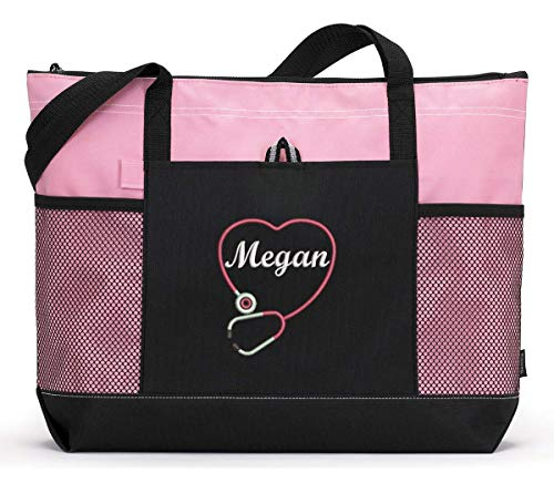 Personalized Nurse Embroided Tote Bag