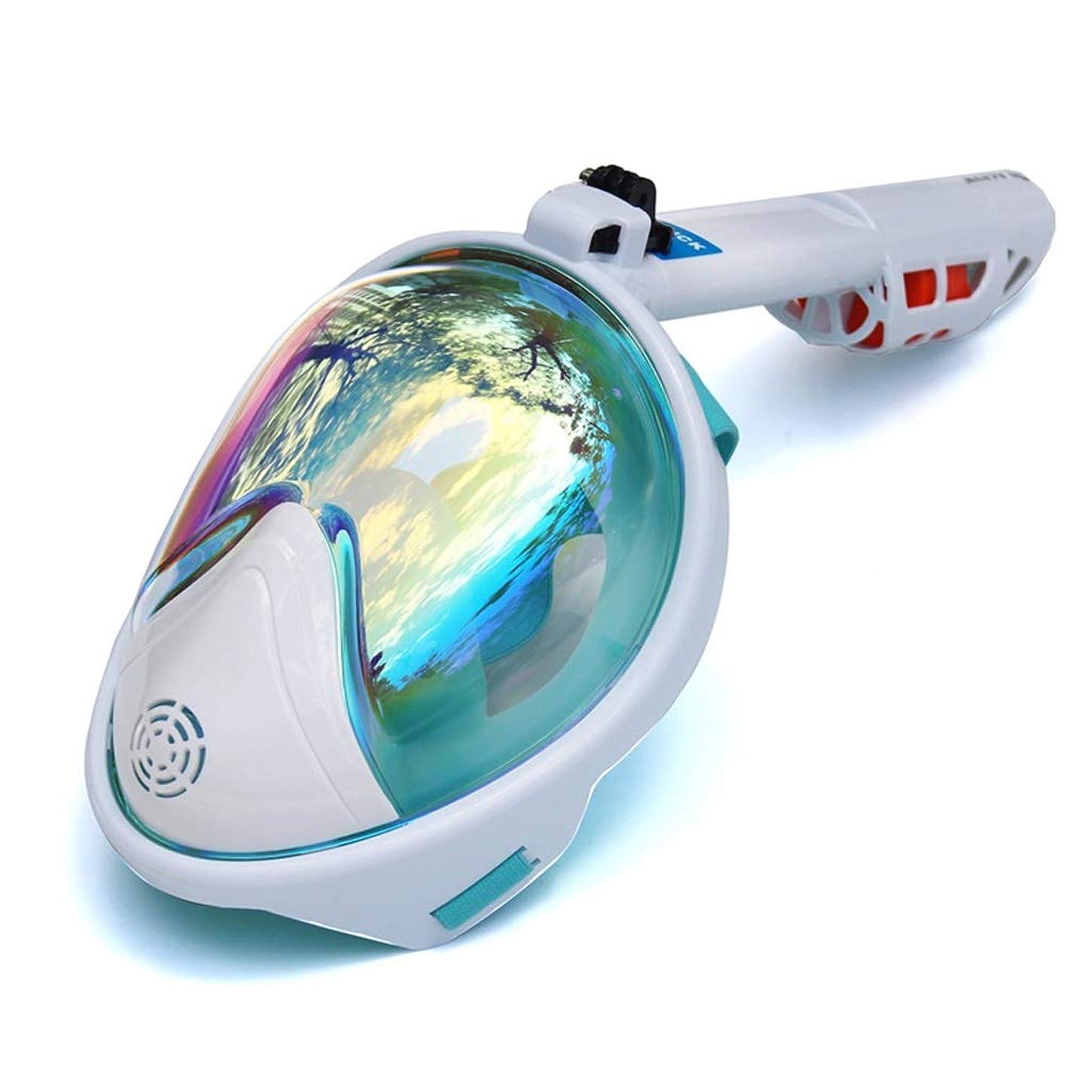 髄と闘うますます海 ダイビングマスク水中スキューバダイビングアンチフォグフルフェイスダイビングマスクシュノーケリングセット付き滑り止めリングシュノーケル 呼吸とビジョン (Color : White, サイズ : XL)