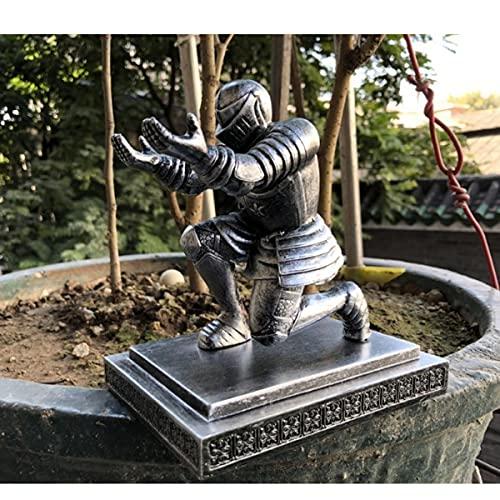 YJKJ Estatua De Héroe De Caballero, Soporte para Bolígrafo De Armadura De Soldado, Escultura De Resina De Escritorio De Regalo De Artesanía De Decoración del Hogar,B