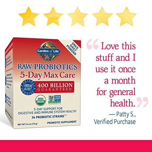 Garden of Life 5-Day Max Care Probiotic Supplement, 2.4 oz