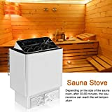 Sauna Stove, 6KW 220-380V Stainless Steel Bathroom Heating External Control Sauna Stove Heater,Sauna