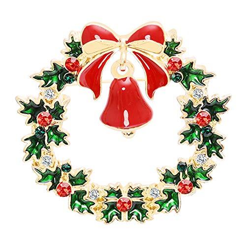 SANWOOD Christmas Brooch Pins for Women Girls Rhinestone Crystal Pin...