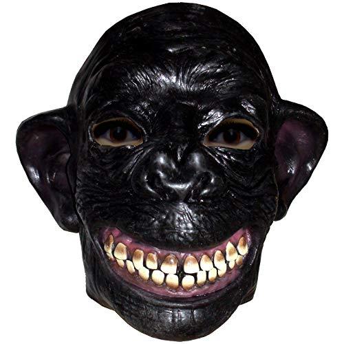 Halbmaske fröhlicher Affe Maske Affenmaske Faschingsmaske