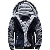 MACHLAB Men's Pullover Winter Workout Fleece Hoodie Jackets Full Zip Wool Warm...
