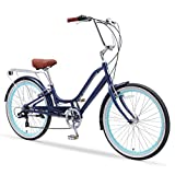 sixthreezero Relaxed Body 7-Speed Recumbent Comfort Bike, 26' Wheels/ 13' Frame, Navy Blue with...