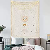 Brujería Astrología Sol Luna Mandala Pared Decoración del hogar Galaxia celestial Tapiz psicodélico Manta A5 180x200cm