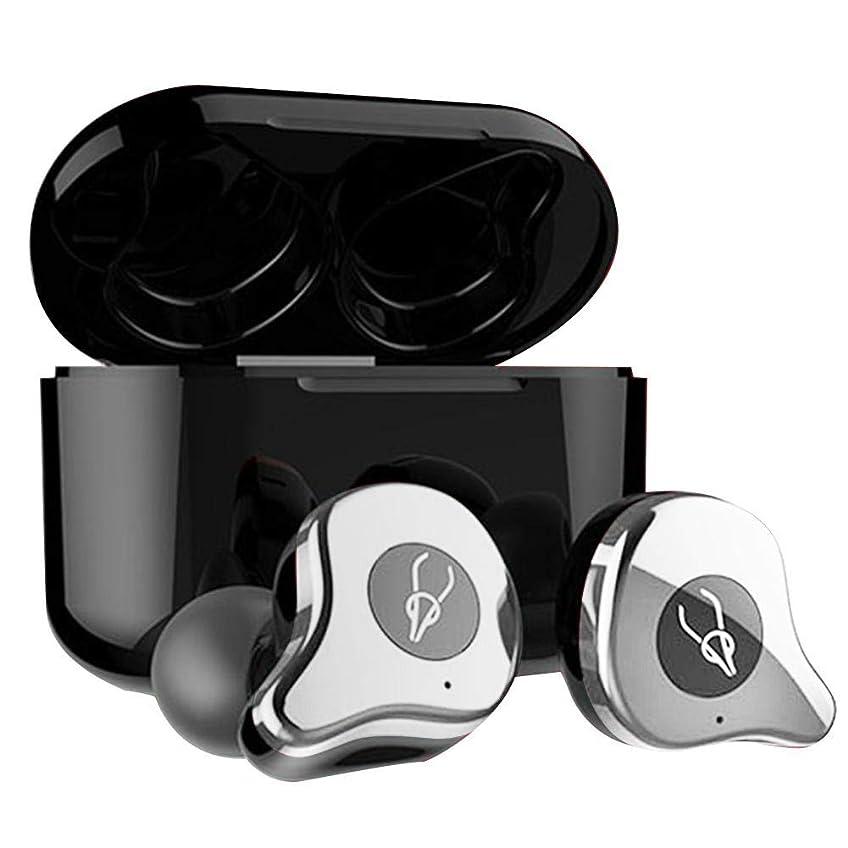 いっぱい寝る落ち着くcasualcatch ワイヤレスイヤホン TWS Bluetooth5.0 イヤホン ステレオ 左右分離型 シルバー