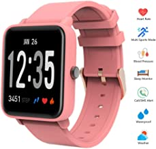 HSXQQL Fitness Tracker Activity Smart Wristband Bracelet with Pedometer Heart Rate Blood Pressure Monitor Waterproof IP67 Call SMS SNS Remind Stopwatch for Men Women Kids Compatible with and