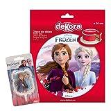 Pack Decoración Tartas de Cumpleaños Infantiles - Disco de Oblea Comestible y Vela de Cumpleaños - Personajes Elsa y Ana de Frozen