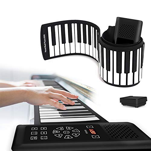 [Latest Version Japanese Touch Panel] Roll Piano, 88 Keys, Beginners, Foldable, Electronic Piano, 128 Types of Tone, 128 Types of Rhythm, 15 Demo Songs, Bluetooth Function, Built-in Speaker, Rechargeable Battery, For Kids, Practice, Keyboard Musical Instruments, Japanese Instruction Manual Included