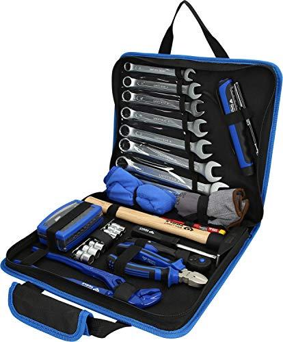 Brilliant Tools BT024064 Pochette d'outils en Cuir. 64 pcs, Bleu/Noir