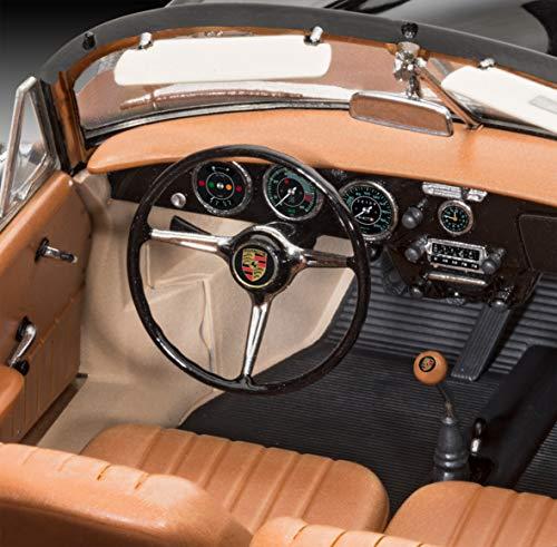Revell 07043 Der legendäre C Selberbauen, Automodellbausatz, 25,2 cm 12 Modellbausatz Porsche 356 Cabriolet im Maßstab 1:16, Level 4, Multicolour