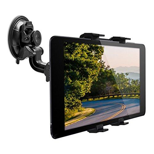 kwmobile KFZ Scheiben Tablet Halterung - mit Saugnapf - verstellbar - Auto Windschutzscheiben Halter für Tablets - 11-20,7 cm Innenmaße