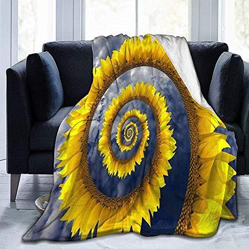 Sunflower Whirlpool Blauer Himmel Wolke Flanell Decke Kuschelige Sofadecke Schoßdecke Weiche, strapazierfähige Sofadecke Fleecedecke