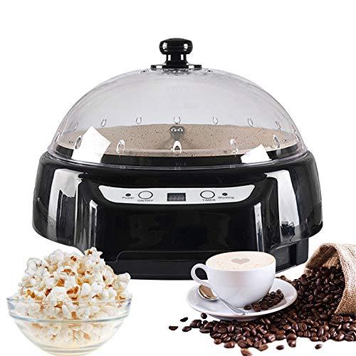 Kacsoo Tostador de café de 220 V, maquina de palomitas de maiz, tostadora de granos, pantalla digital, función de cuenta regresiva, tostadora de café de acero inoxidable para uso hogar, cafetería