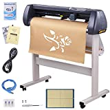 Yescom 34' Vinyl Cutter Machine 870mm Sign Cutting Plotter with Signmaster Software 3 Blades Adjustable Force Speed