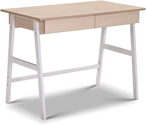 Computer Desk Office Storage Study Metal Drawer Table Student Business White Oak
