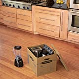 Bankers Box SmoothMove Classic Moving Boxes, Tape-Free Assembly, Easy Carry Handles, Medium, 18 x 15 x 14 Inches, 20 Pack (8817202)