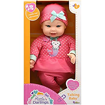 """Little Darling Talking Baby  3114  12"""" Soft body baby doll 6 different baby sounds Age 1+"""