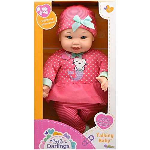"""Little Darling Talking Baby (3114), 12"""" Soft body baby doll, 6 different baby sounds. Age 1+"""