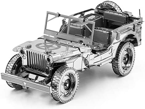 Fascinations Metal Earth ICONX Willys Overland 3D Metal Model Kit product image