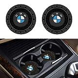 SOONDAR 2Pcs Car Interior Anti Slip Cup Mat for BMW 1 3 5 7 Series F30 F35 320li 316i X1 X3 X4 X5 X6 (2.75')