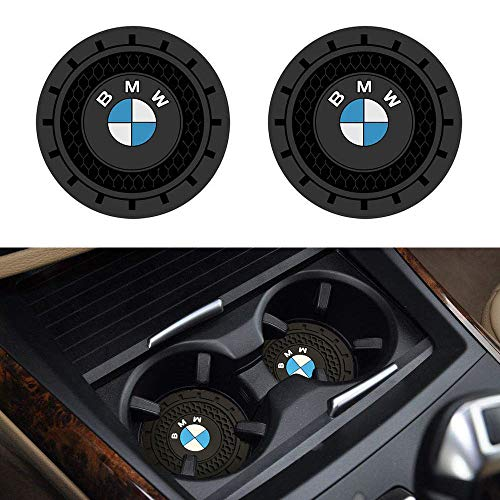 SOONDAR 2Pcs Car Interior Anti Slip Cup Mat for BMW 1 3 5 7 Series F30 F35 320li 316i X1 X3 X4 X5 X6 (2.75
