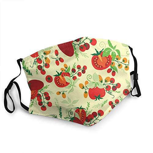 Hangdachang Teen Boy Tomaten Blätter Unisex Wiederverwendbare Nasen- und Mundstaubmaske, du bist Meine verstellbare Ohrhaken-Sonnenstaubmaske