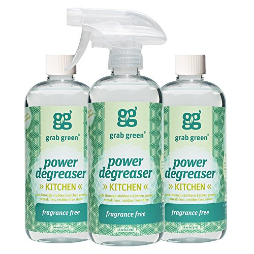 Grab Green Natural Power Degreaser, Biodegradable, Residue & Streak-Free Finish, Fragrance Free, 16...