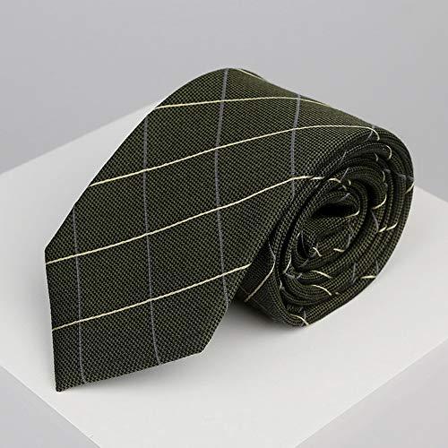 N·XHXL Männer Krawatte, Armee-Grün-Diagonal Gitter-Bindung Für Hochzeit Business Leisure Party, 100{81ea975bc9cc062a49f354e5e0a2385f56e0422d008eb988a9b42171b9042749} Silkworm Silk Gewebe, Stunning Geschenke Für Ihn