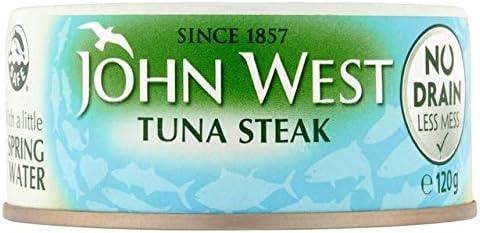 John West No Drain Tuna Steak in Springwater 120g