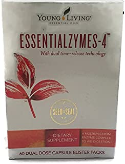 Essentialzymes-4 60 Dual Dose Capsules by Young Living Essential Oils