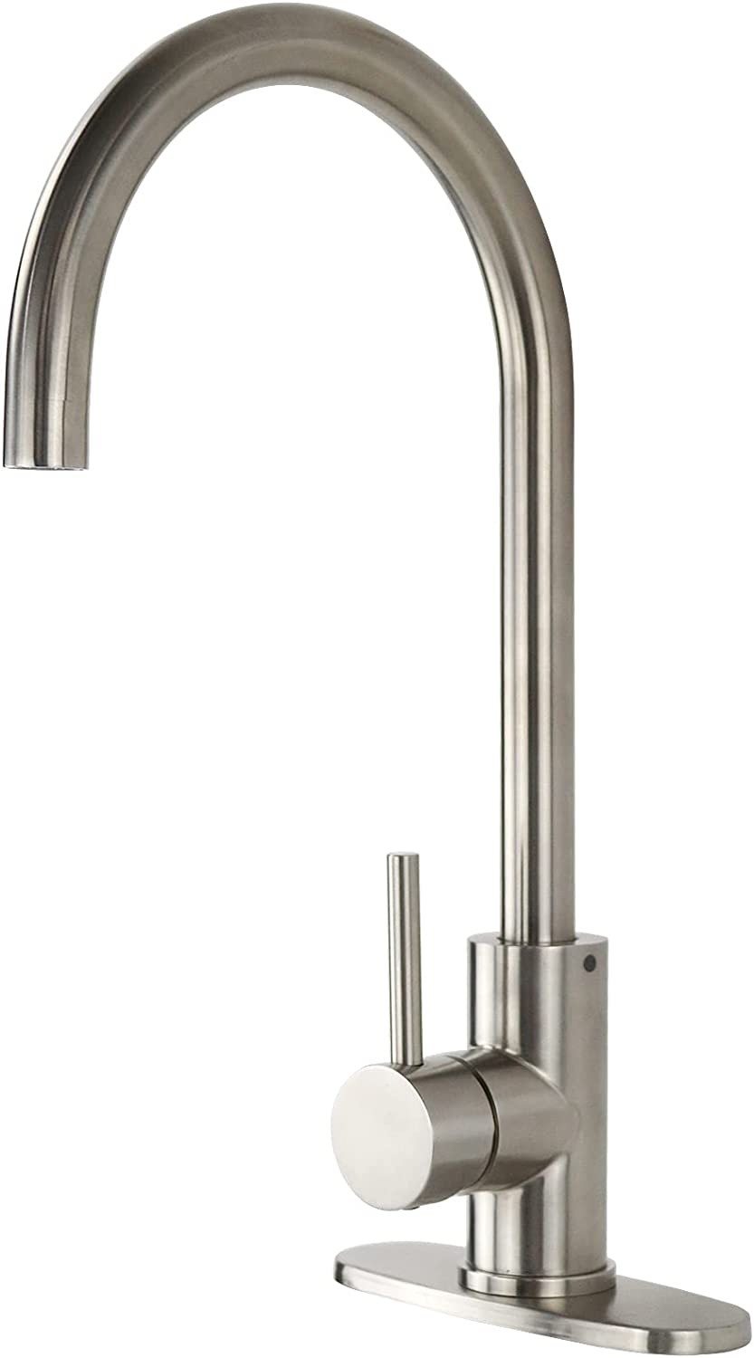 Cheap super special price YooGyy Commercial Stainless Steel Kitchen Faucet Ranking TOP17 Nickel Brushed
