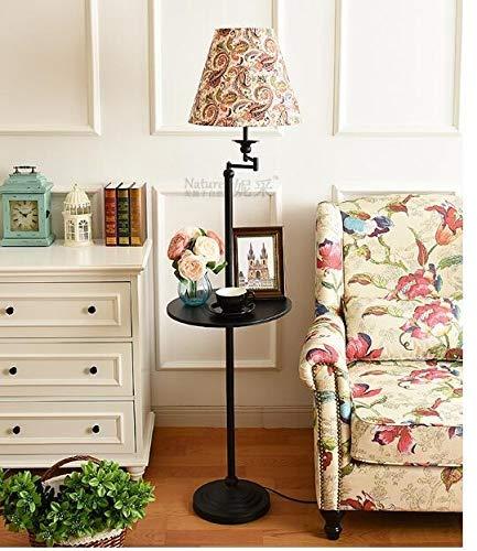 XUSHEN-HU Stehlampe Wohnzimmer Schlafzimmer Einfache Lagerung Vertikaler Couchtisch Tablett Fernbedienung Dekorative Lampe Modern (Lampenschirm-Farbe: 9)
