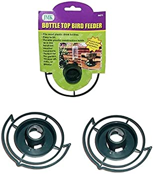Easy to Make your Own - recycle empty SODA pop Bottle Top BIRD FEEDER  Green - Pack of 3