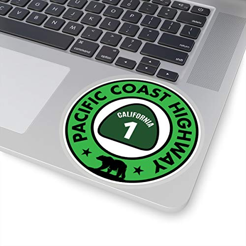 Lplpol PCH Sticker California 1 Pacific Coast Highway - Pegatinas de vinilo para adolescentes, niñas, mujeres, 15,24 cm