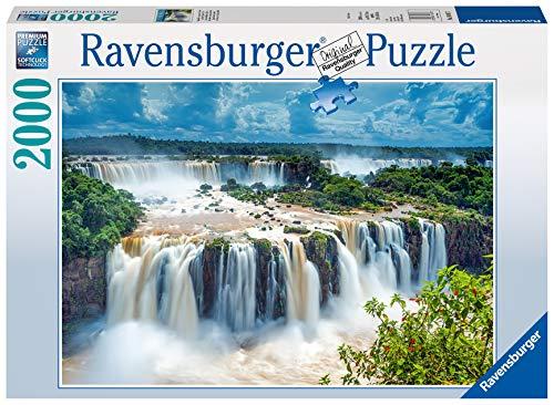 Ravensburger Cascata Dell'Iguazù Brasile, Puzzle Foto e Paesaggi con Tecnologia Softclick, per Adulti, 2000 Pezzi