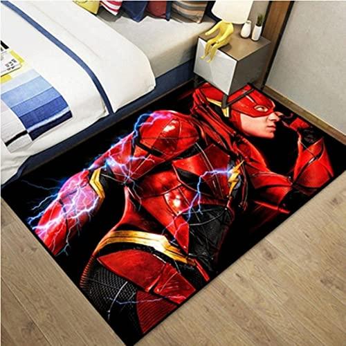 chengcheng Alfombra con diseño de héroe de DC, alfombras de la Zona de cabecera de la Liga de la Justicia, Alfombra para decoración del hogar 100x160cm