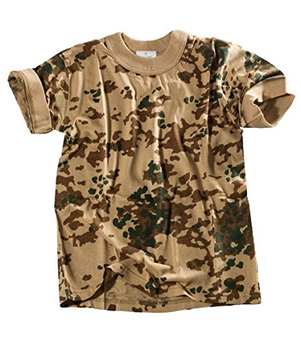 Bequemes US Army Style Kinder T-Shirt S-XXXL (S (122/128), Tropentarn)